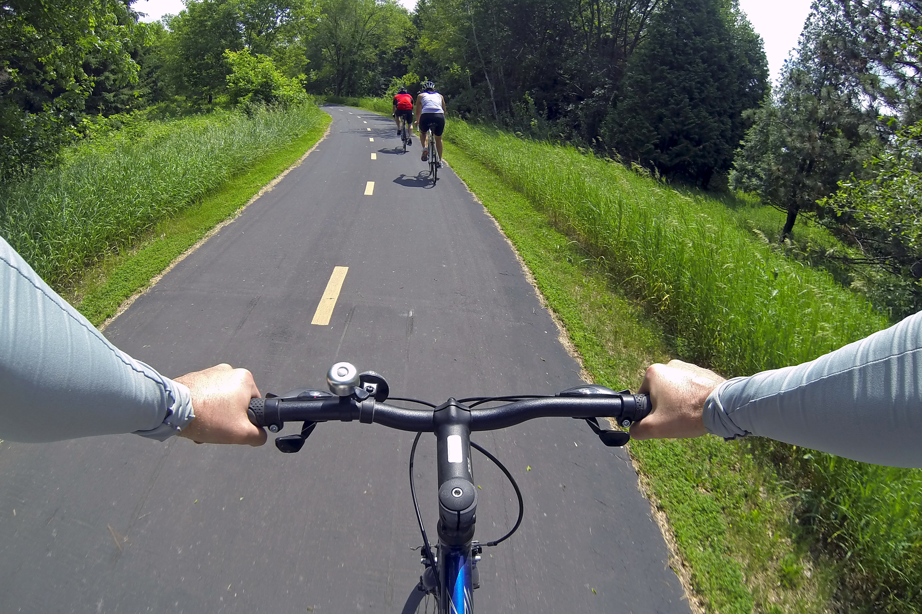 bikers on a regional trail