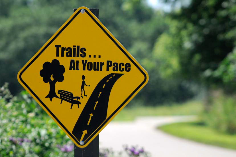 Trails at Your Pace sign