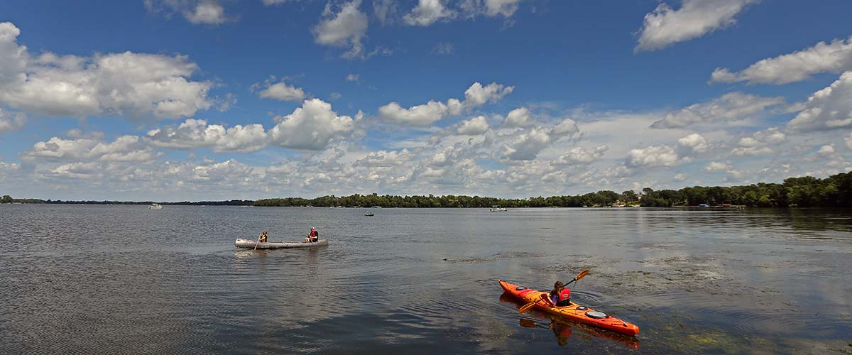 Kayakers on Cedar Lake