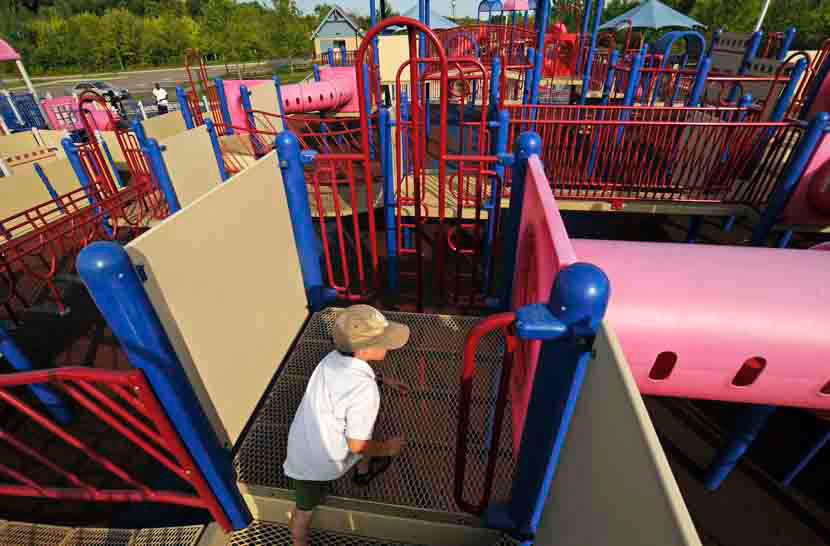 Child on playarea