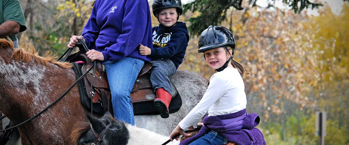 Young horseback rider on pony