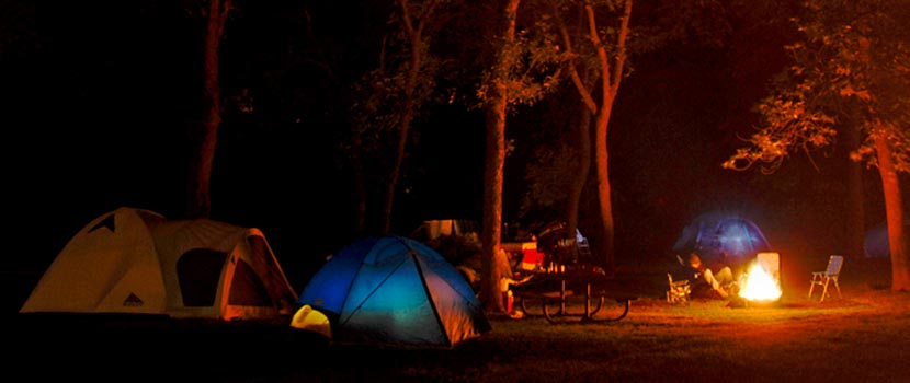 campground at night