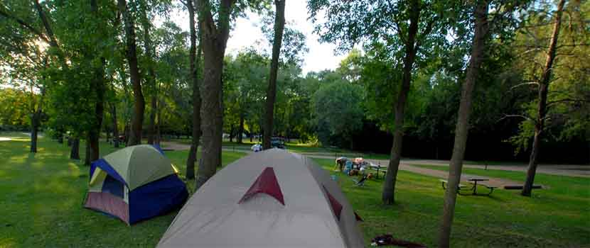 tents at baker campground