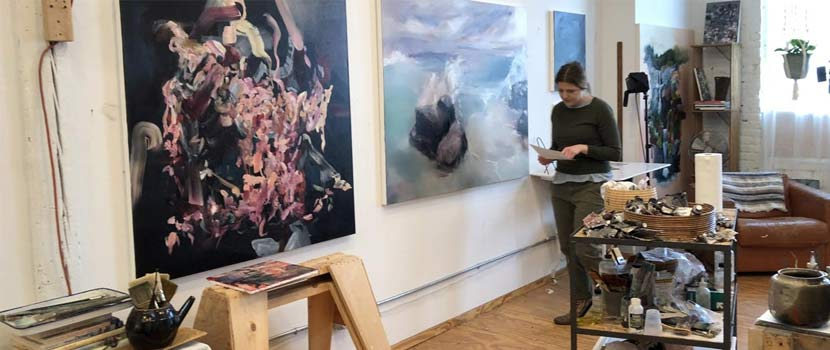 Artist Kelli Nelson in her Minneapolis studio.