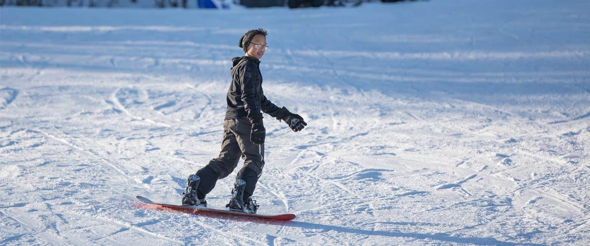 Snowboarding Three Rivers Park District