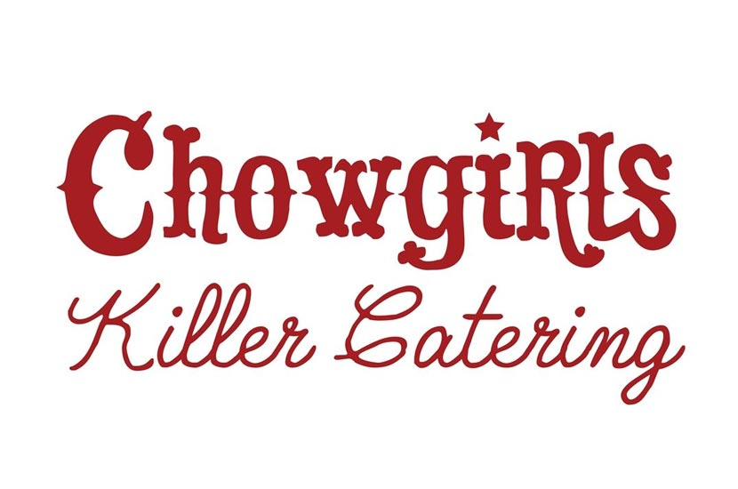 Chowgirls logo in red.