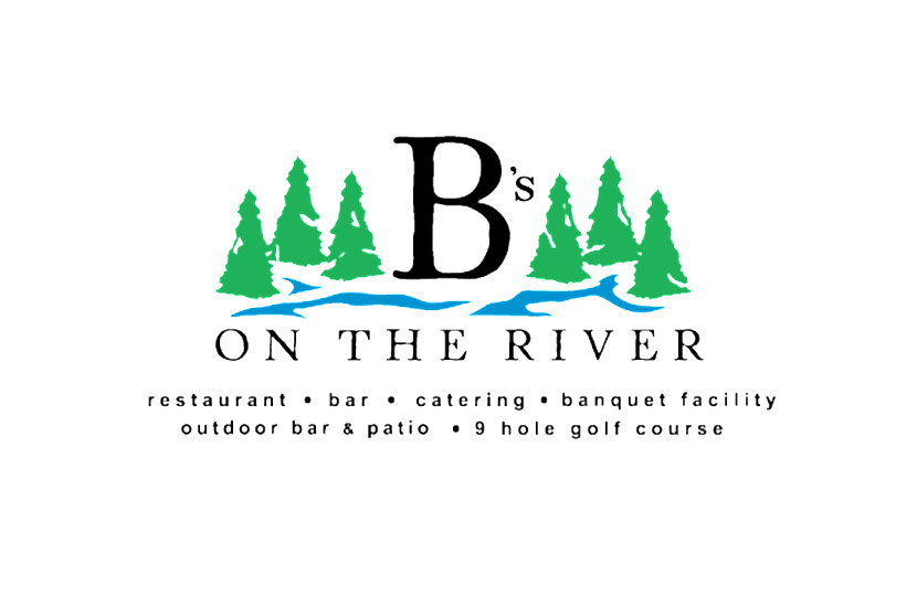 B's on the River logo.