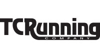 TC Running company black and white logo.