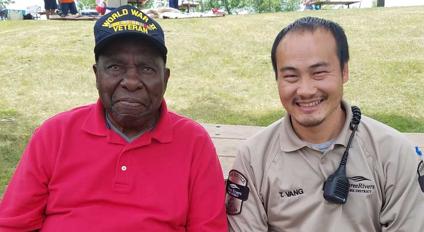 Ray and Thao, a park district employee
