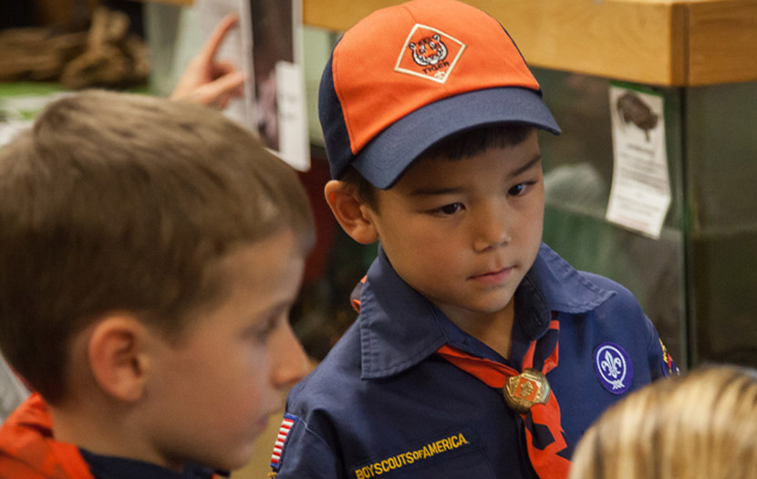 two boys in scouts uniforms