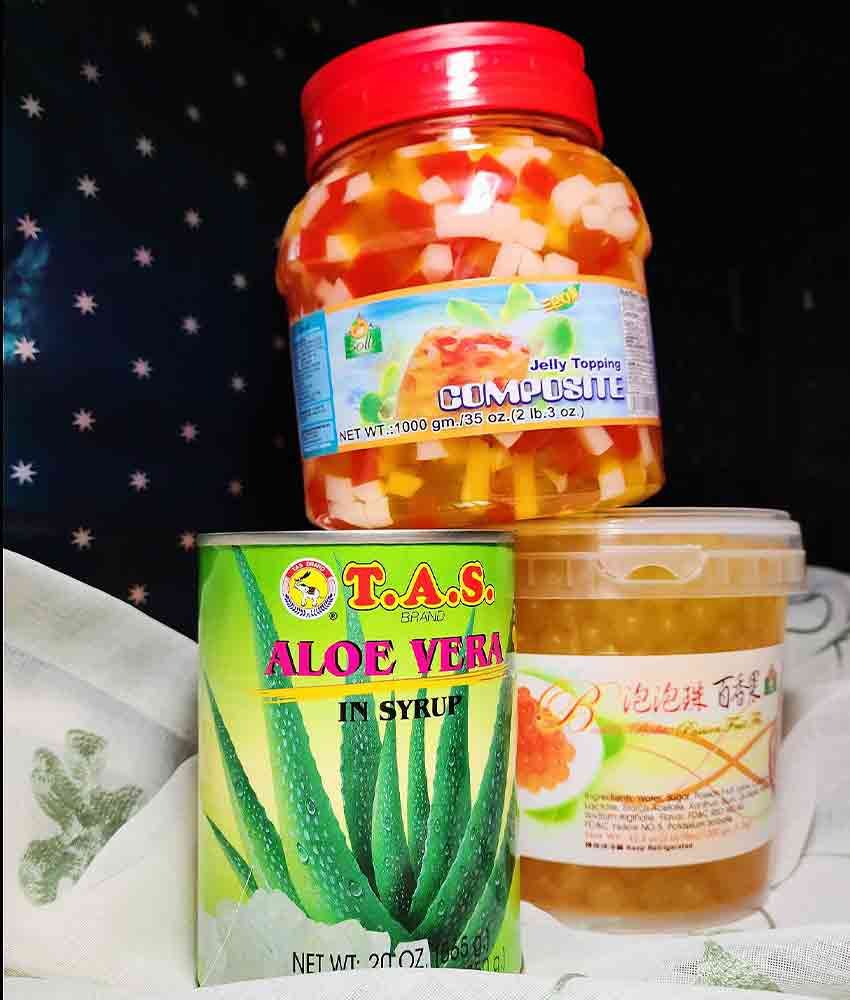 canned aloe vera and jellies