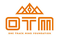 Orange and white one track mind logo.