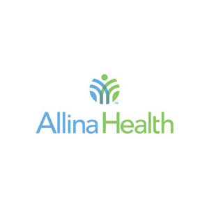 Allina Health logo in blue and green