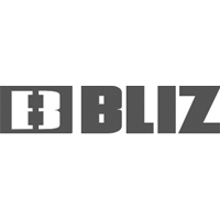 Black and white Bliz logo.