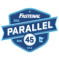 Fastenal Parallel 45 logo in blue.