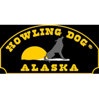 Black and yellow logo for Howling Dog Alaska.