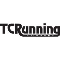 Black and white tc running logo.