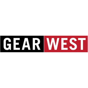 black and red gear west logo.