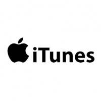 black and white itunes logo
