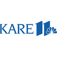 Blue and white Kare 11 logo.