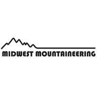 black and white midwest mountaineering logo.
