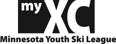 black and white MN youth ski league logo.