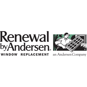 black and white renewal by andersen logo