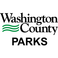 Black and green Washington County Parks logo.